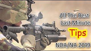 NDA/NA - Last Minute Tips;  ALL THE BEST