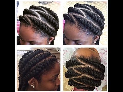 TUTORIAL: BIG CORNROWS - YouTube
