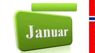 Learn Norwegian - Months of the Year