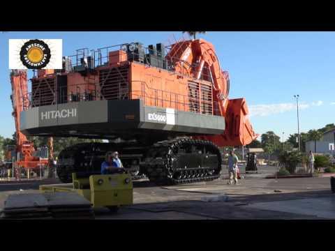 Moving a 550 ton Hitachi EX5600 face shovel