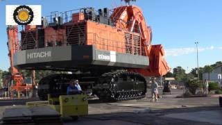 Moving a 550 ton Hitachi EX5600 face shovel