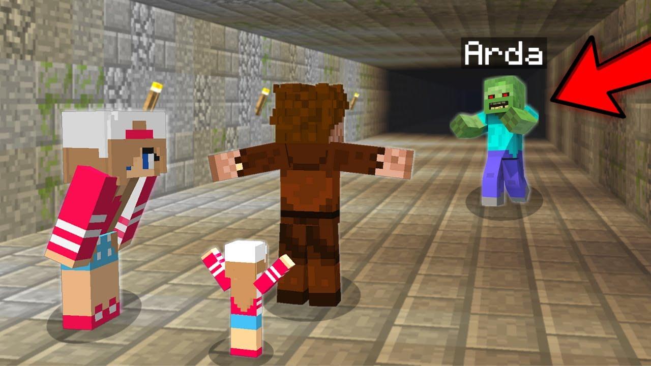 ARDA ZOMBİYE DÖNÜŞTÜ AİLESİNE SALDIRIYOR! 😱 - Minecraft