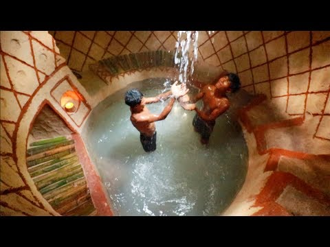 Dig To Build The Best Secret Swimming Pool Underground House