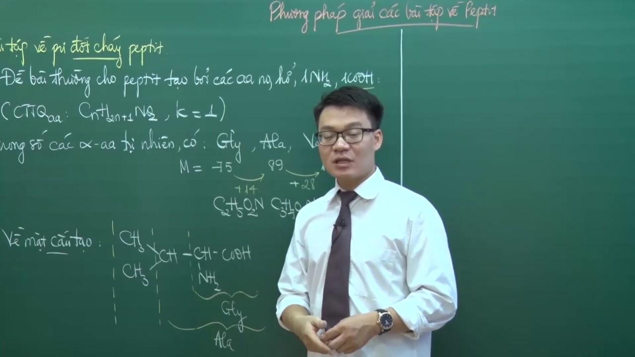 Phương pháp giải các bài tập về Peptit (P1) – Lớp 12 – Thầy Vũ Khắc Ngọc