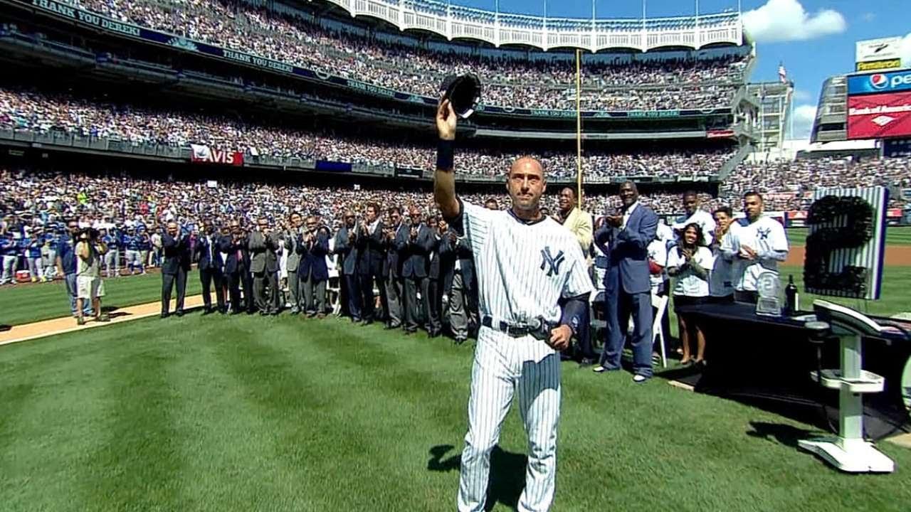 VIDEO: New York Yankees Retire Derek Jeter's Iconic No. 2 Jersey