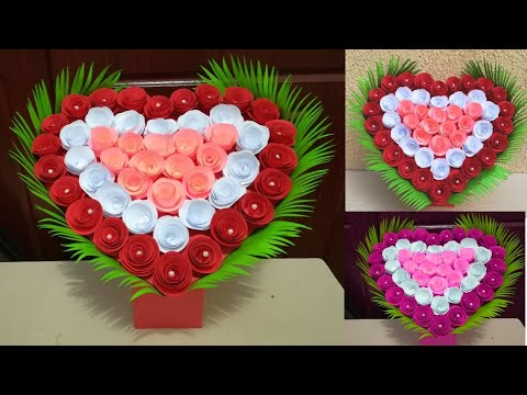 DIY Paper Heart Wall Hanging // Easy Wall Decoration Idea // DIY  Gift Idea // paper craft