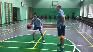Тренировка по баскетболу. Константин Барановский U-14