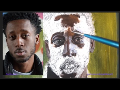 HOW TO PAINT SKIN TONES (RICH) - OIL PAINTING TUTORIAL *DEMO* - PatDowArt