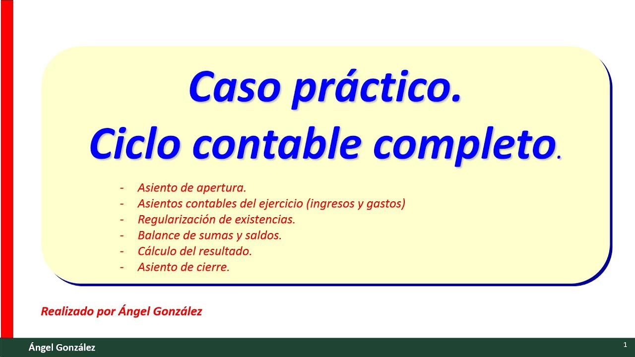 11) Caso práctico contabilidad básica. Ejercicio de ciclo contable ...