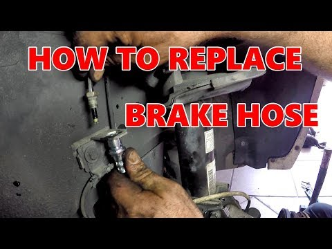 HOW TO REPLACE FRONT BRAKE (HOSES) SATURN VUE 2008