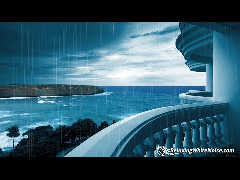 Rainstorm & Ocean Waves | Sleep or Study Better with Rain White Noise | 10 Hours