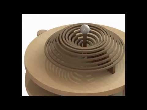Representación del movimiento ondulatorio en medio acuoso [Solidworks]