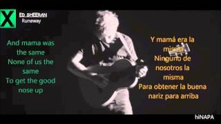 Скачать Copia De Ed Sheeran Runaway Lyrics Inglés Español