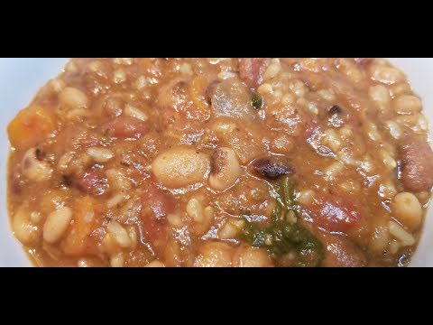 13 Bean Soup~SOS Free WFPB Vegan