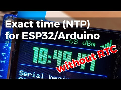 Exact time (NTP) for your ESP/Arduino without RTC module