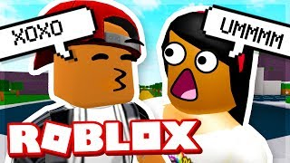 TRYING TO KISS MY GIRLFRIEND! - Roblox