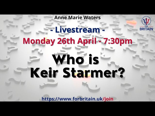 For Britain Live: Monday 26th April at 19.30 GMT