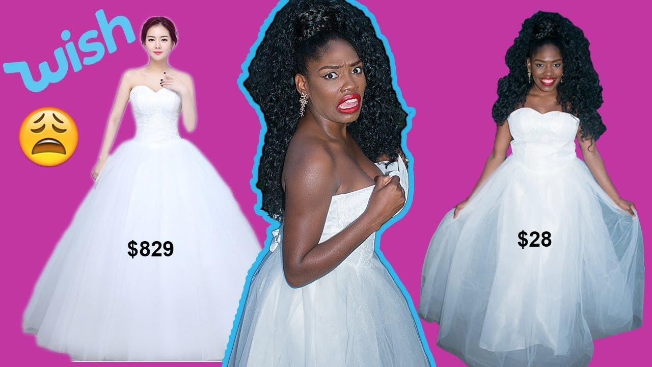 Wish | I Bought My Wedding Dress From Wish? - YouTube
