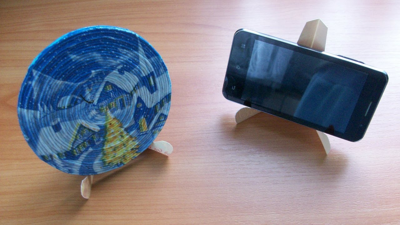 1 Minute Useful Craft Phone Photo Picture Stand From Cardboard Or