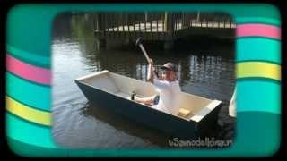 Простая лодка из фанеры(Лодка из фанеры. Посмотрите как сделать своими руками простую лодку из фанеры. http://usamodelkina.ru лодки из фанеры..., 2014-08-23T06:29:30.000Z)