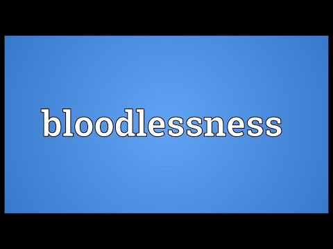 Header of bloodlessness