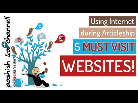 CA Articleship - Using internet during CA articleship - 5 MUST VISIT websites | MUST WATCH!