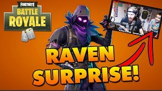 Surprising Our Son with the NEW RAVEN SKIN in Fortnite Battle Royale!