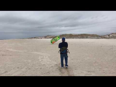 Kiteboarding on land.