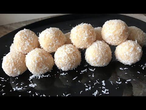 Coconut balls recipe 2 ingredients coconut laddu recipe