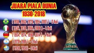 Video Daftar Negara Peraih Juara Piala Dunia Terbanyak 1930 - 2018 download MP3, 3GP, MP4, WEBM, AVI, FLV Juli 2018