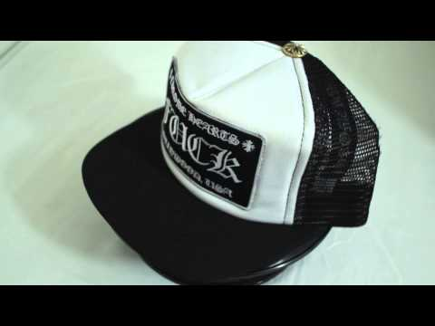 Chrome Hearts Fuck Black White Mesh Trucker Cap / クロムハーツ タッカーキャップ