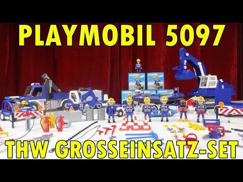 """""""PLAYMOBIL 5097 THW GROSSEINSATZ SET 2015"""" -Vorstellung"""