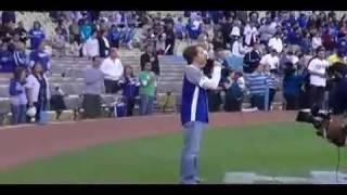 James Arnold Taylor-National Anthem at Dodger Game