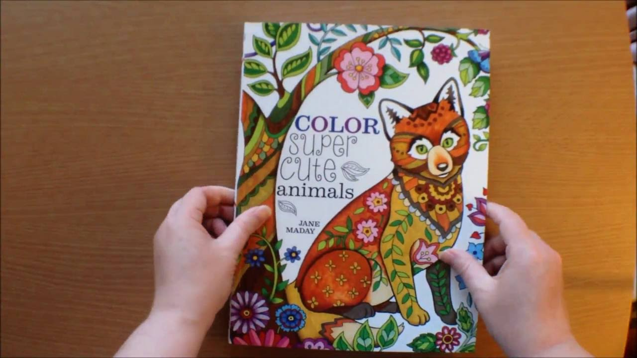 Color Super Cute Animals By Jane Maday Colouring Book Flipthrough