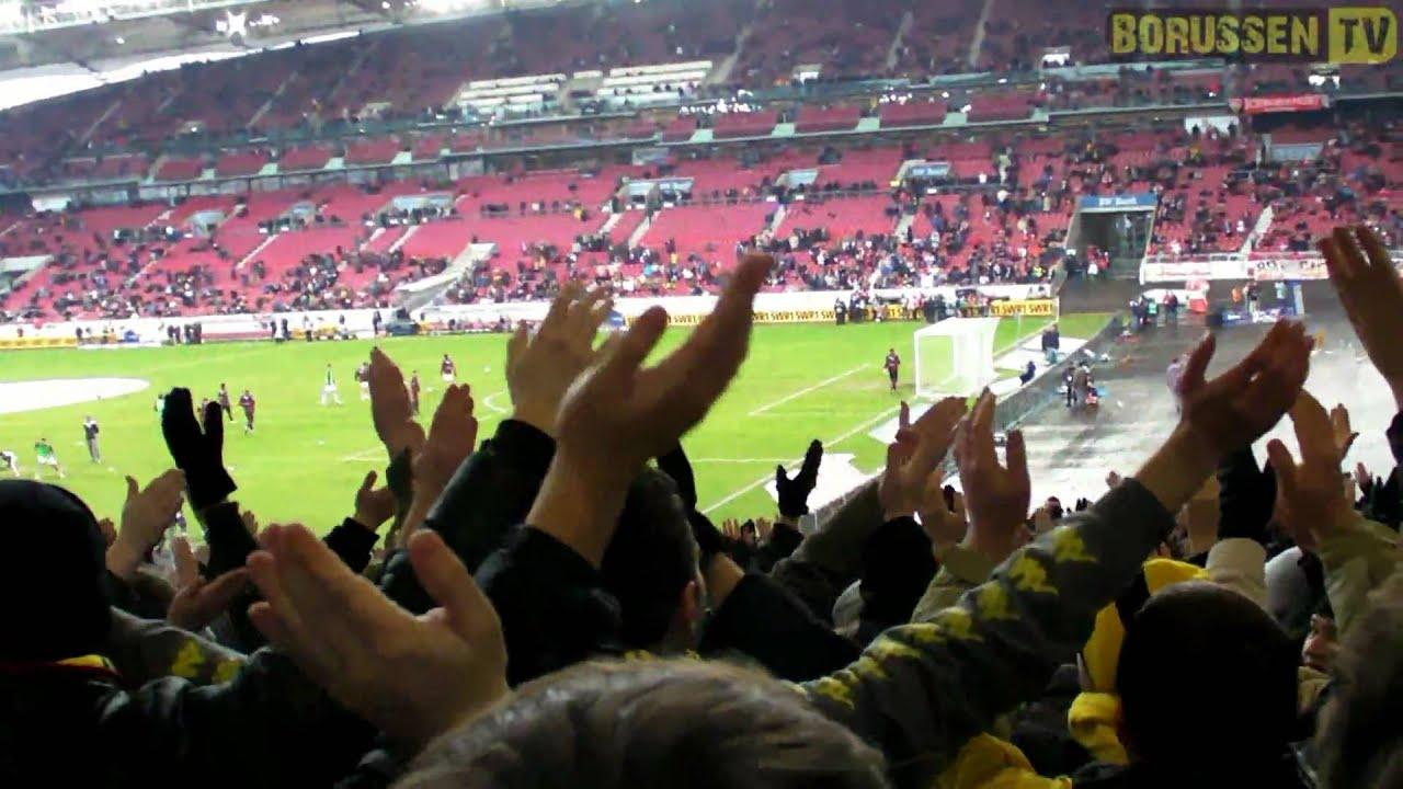 Stimmung Gästeblock: VfB Stuttgart - BVB 31.01.10
