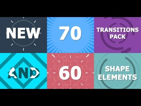 70 Transitions Pack (After Effects Template) - YouTube