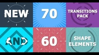 70 Transitions Pack (After Effects Template)