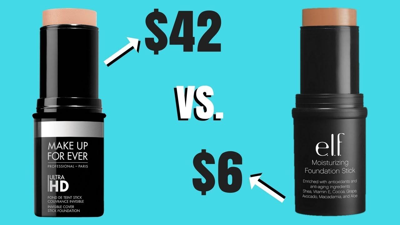 FOUNDATION DUPE !! | Makeup Forever HD Foundation Stick vs. E.L.F Moisturizing Foundation Stick