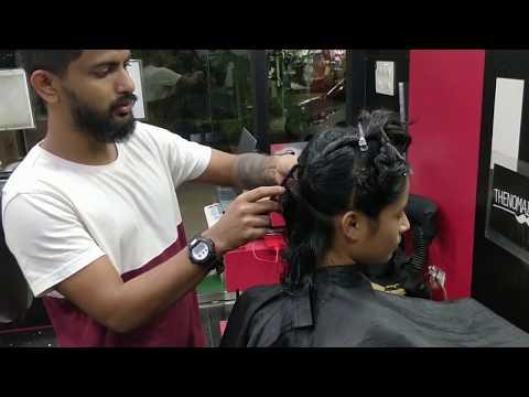 Mumbai's Girl Getting Long to Blunt Haircut