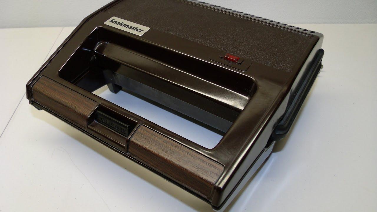 Vintage Clark National Snakmaster Sandwich Grill Appliance Toaster Griddle  CN613