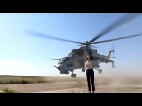 Una periodista a punto de ser decapitada en directo por un helicóptero militar