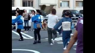 桜川唯行会、夏祭りの踊り子、変なおじさんが・・・?自分の世界で踊って居ます。でもすいません、良く見たら友達でした。