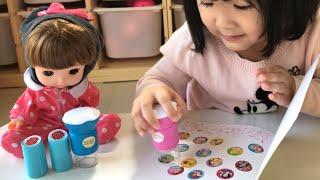 スタンプシールのおもちゃでデコレーション!!ステッカーファン プリンセス すみっコぐらし Sticker Stamps Toy