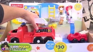 TMNT Party Wagon FIRE By Joker! Little People Rescue Truck + Batman! By HobbyKidsTV