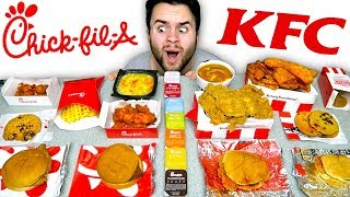 Chick-Fil-A vs. KFC! The Whole Menu! - Chicken Fast Food Taste Test