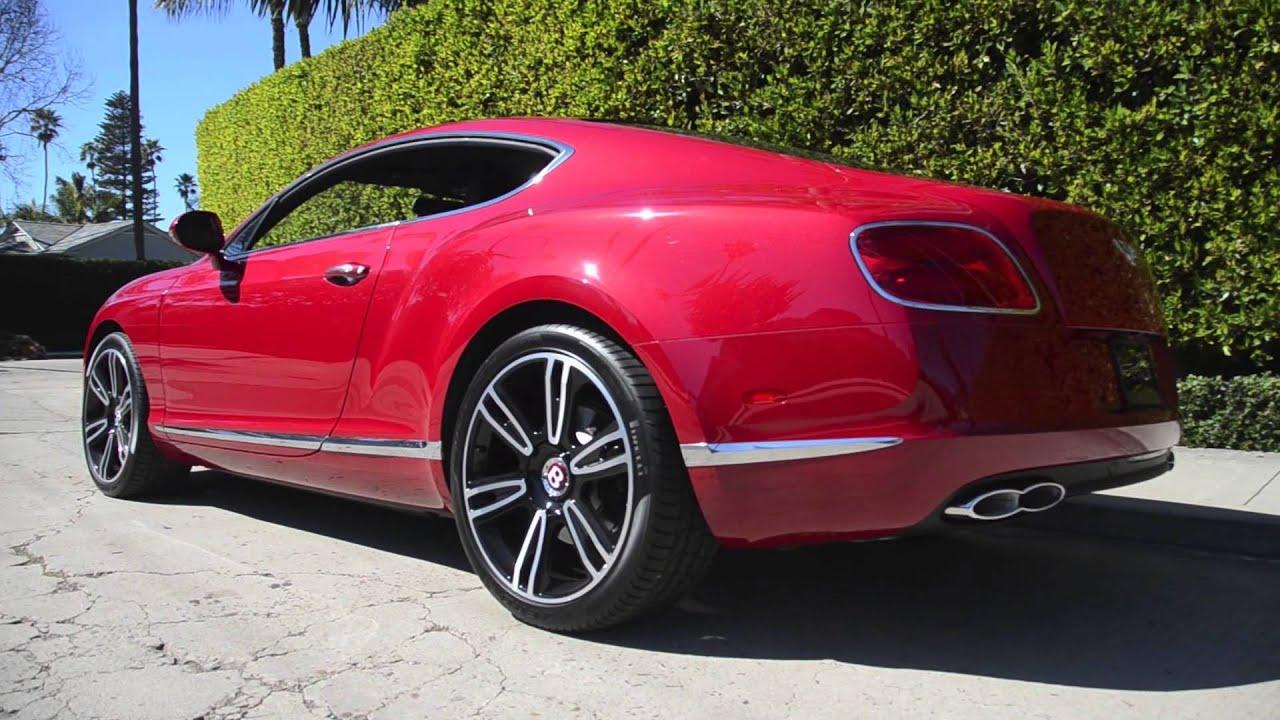 Symbolic Motors Dragon Red Bentley Gt V8 Coupe Revving Walk