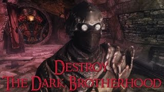 Morag Tong Assassin (part 1) - Destroy the Dark Brotherhood - Skyrim Stealth Gameplay