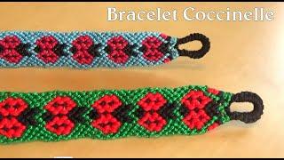 [TUTO] Bracelet Brésilien Coccinelle / niveau avancé