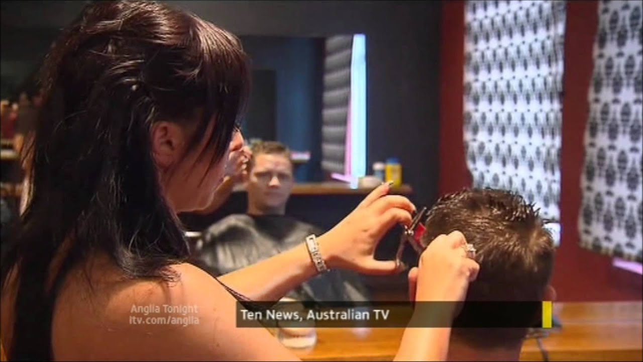Natalie Gray Anglia Tv  Evening Topless Hairdressers Coming To Town Story