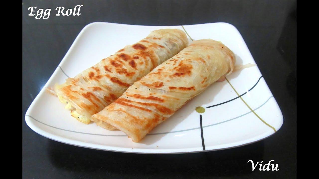 indian style egg rollskolkata egg parota youtube